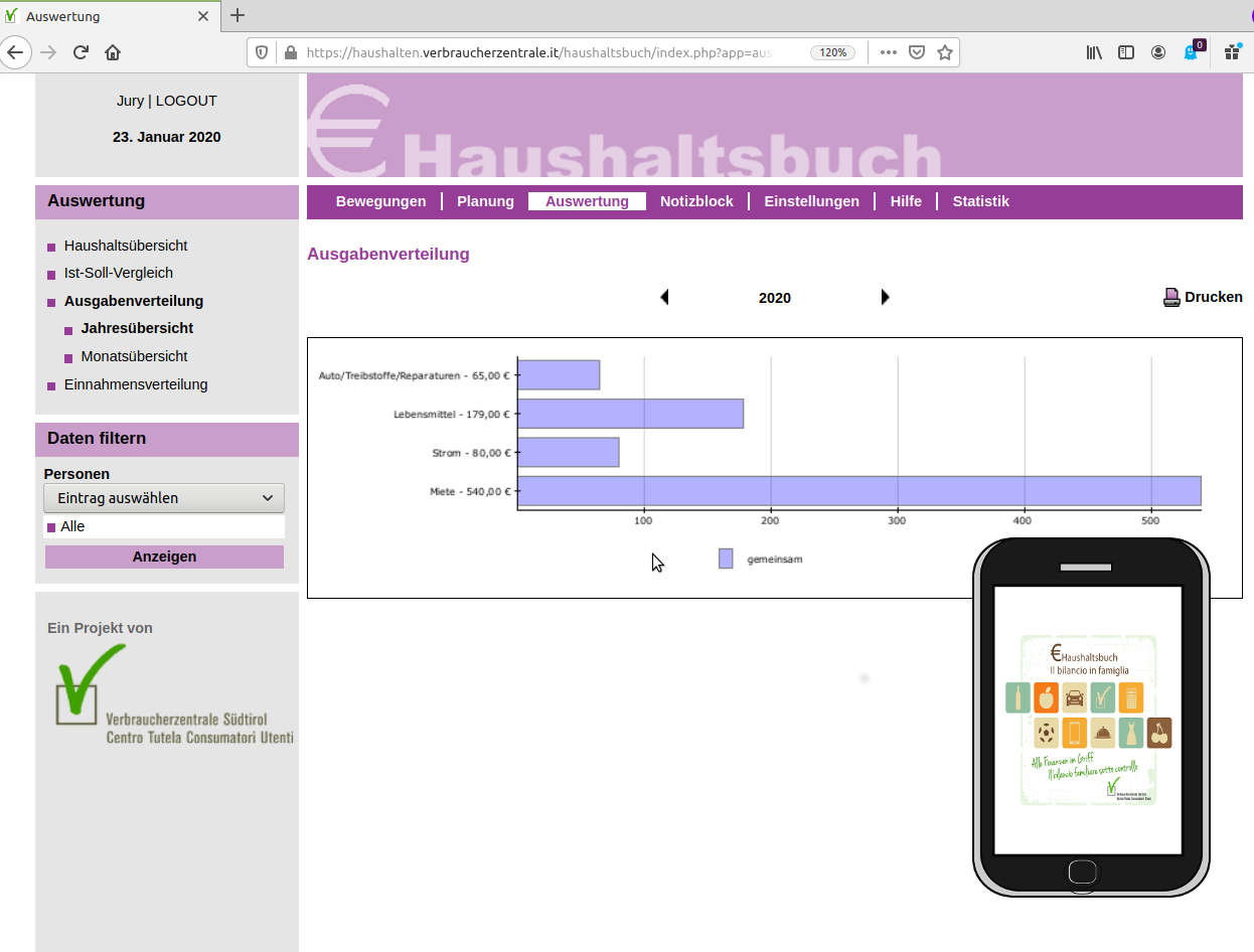 Haushaltsbuch Führen App